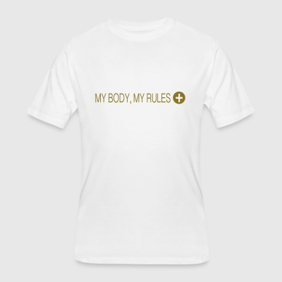 Positees - My Body, My Rules - Men's 50/50 T-Shirt