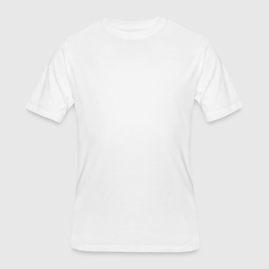 Blackpilled.com White Logo - Men's 50/50 T-Shirt