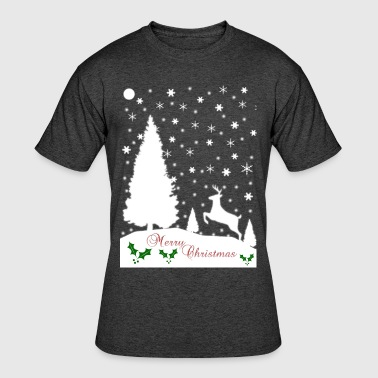 Merry Christmas Winter Snowflakes - Men's 50/50 T-Shirt