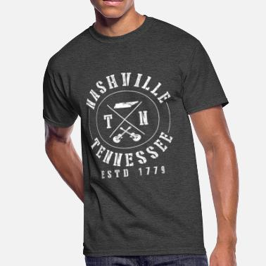 Nashville Tn Country Music Nashville Tennessee - Country Music Guitar Gift - Men's 50/50 T-Shirt