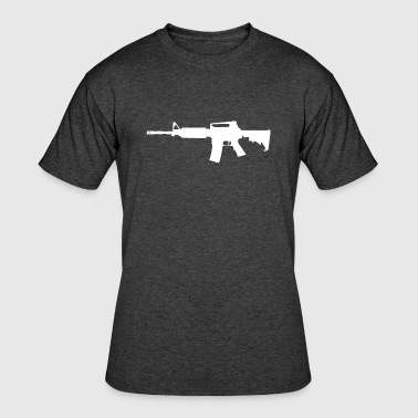 Ar-15 Rifle AR-15 Rifle Silhouette - Men's 50/50 T-Shirt