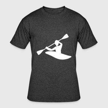 Kayak Canoe Canoeing Boat Kayaking Water Sports - Men's 50/50 T-Shirt