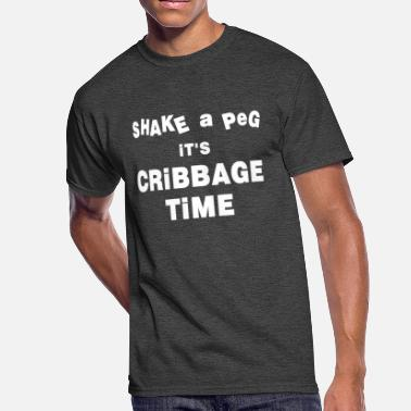 Cribbage Cribbage Time White Text - Men's 50/50 T-Shirt
