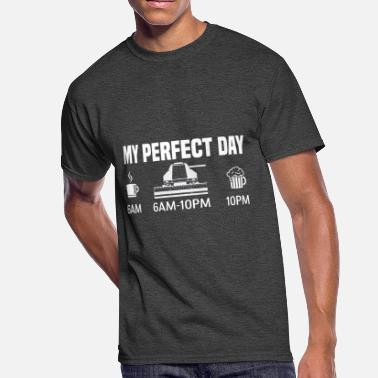 Harvest My perfect day - combine harvester farmer gift - Men's 50/50 T-Shirt