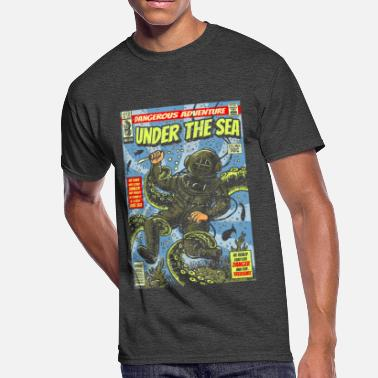 Deep Sea Under the Sea Comic Adventure - Men's 50/50 T-Shirt