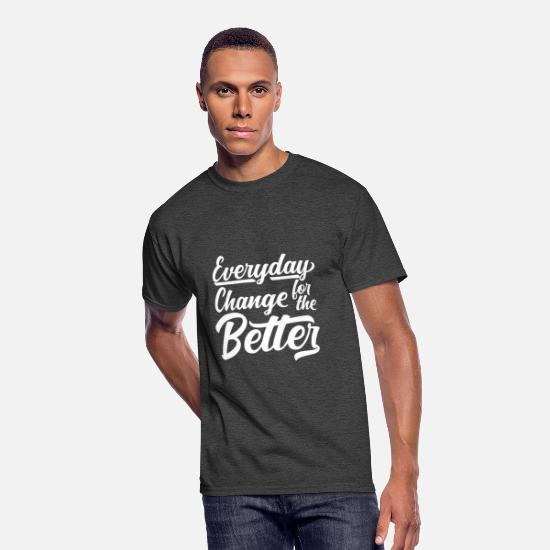 Symbol  T-Shirts - Everyday Change For The Better - Men's 50/50 T-Shirt heather black