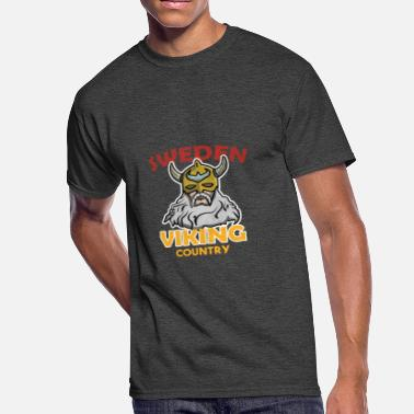 Wiking Sweden Viking Country Wikings Gift Beard Folk - Men's 50/50 T-Shirt
