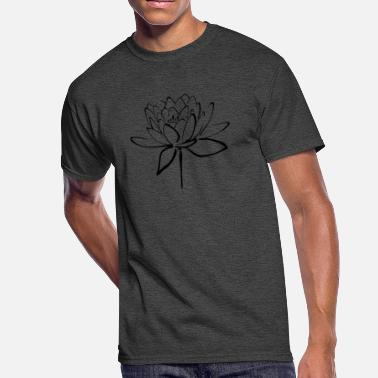 Black Lotus Black Lotus Calligraphy - Men's 50/50 T-Shirt
