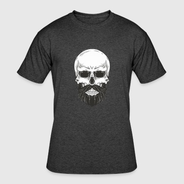 Skull with beard - Men's 50/50 T-Shirt