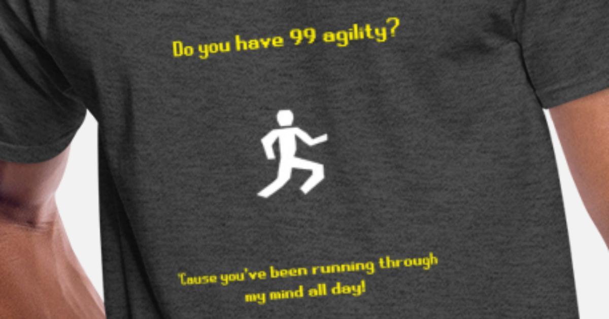 Runescape agility pickup line Men's 50/50 T-Shirt | Spreadshirt