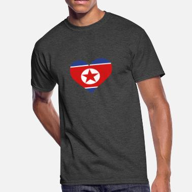 North Korea Football A Heart For North Korea - Men's 50/50 T-Shirt