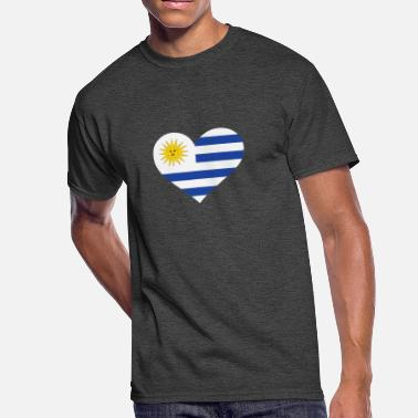 Rio De La Plata A Heart For Uruguay - Men's 50/50 T-Shirt