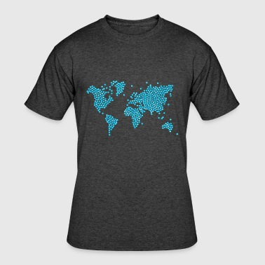 Iconic Political Issues world map icon - Men's 50/50 T-Shirt