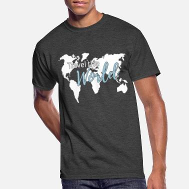 Travel The World Travel the World Map Worldmap - Men's 50/50 T-Shirt