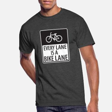 Lanes Every Lane is a Bike Lane - Men's 50/50 T-Shirt