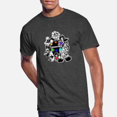 Undertale T-shirt Sans Papyrus Retro Style Video Game Unisex Black T-shirt S-2XL