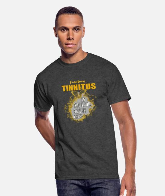 Gold T-Shirts - Tinnitus Awareness - Men's 50/50 T-Shirt heather black