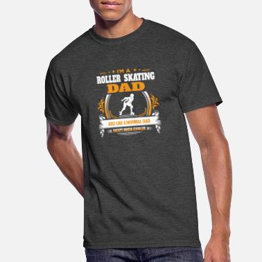 Skating Roller Skating Dad Shirt Gift Idea - Men's 50/50 T-Shirt
