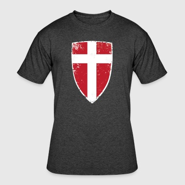 Denmark Flag - Men's 50/50 T-Shirt