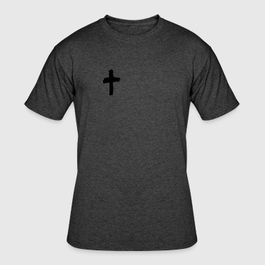 CROSS ICON - Men's 50/50 T-Shirt