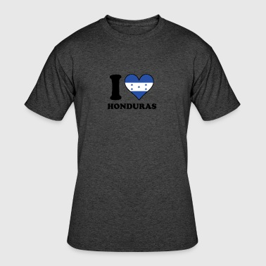 I Love Honduras Honduran Flag Heart - Men's 50/50 T-Shirt