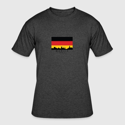 Munich Germany Skyline German Flag - Men's 50/50 T-Shirt