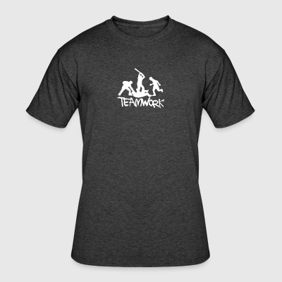 Teamwork Mens Funny - Men's 50/50 T-Shirt