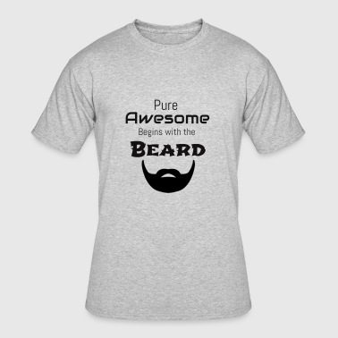 Awesome Beard - Men's 50/50 T-Shirt