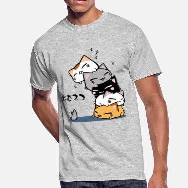 Neko Neko Uh oh Cute Cat - Men's 50/50 T-Shirt