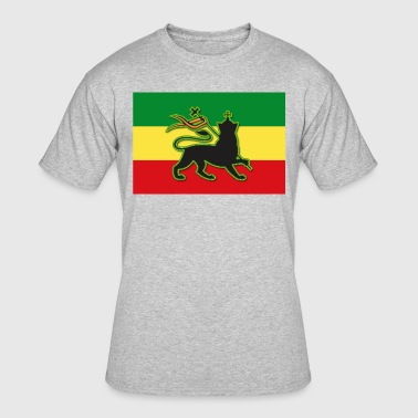 Conquering Lion Of Judah Rasta Flag w/ The Lion of Judah - Rasta - Reggae - Men's 50/50 T-Shirt