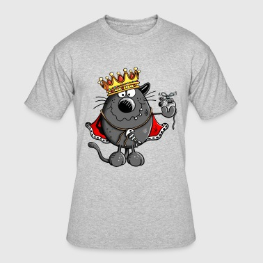 King Of Cats - Cat - Gift - Crown - Boss - Chief - Men's 50/50 T-Shirt