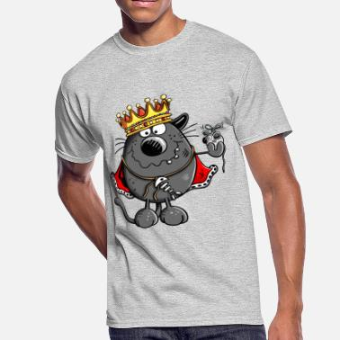 The Chief Cat King Of Cats - Cat - Gift - Crown - Boss - Chief - Men's 50/50 T-Shirt