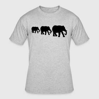 Elephant family, silhouettes. - Men's 50/50 T-Shirt