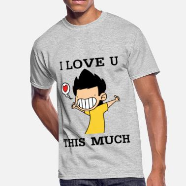 I Love U I love u this much - Men's 50/50 T-Shirt