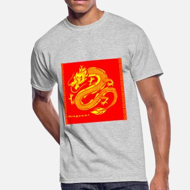 Traditional Chinese Traditional chinese dragon with silhouette - Men's 50/50 T-Shirt