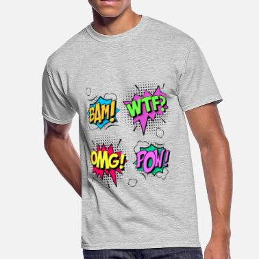 Sound Effects Comic Sound Effects - Men's 50/50 T-Shirt