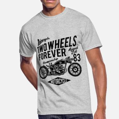 2 Wheels Two Wheels Forever 1 2 - Men's 50/50 T-Shirt