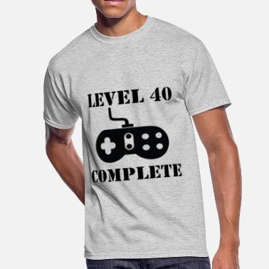 40th Birthday Ideas Level 40 Complete 40th Birthday - Men's 50/50 T-Shirt