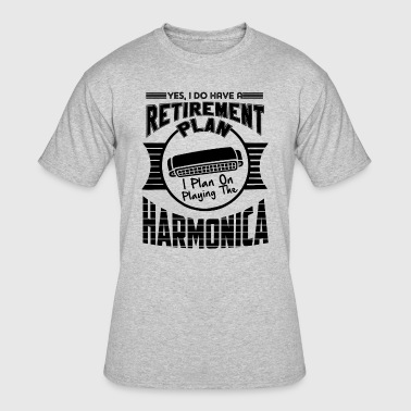 Play Harmonica On Playing Harmonica Shirt - Men's 50/50 T-Shirt