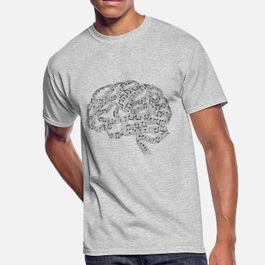 Brain Mind Sound of Mind | Audiophile's Brain - Men's 50/50 T-Shirt
