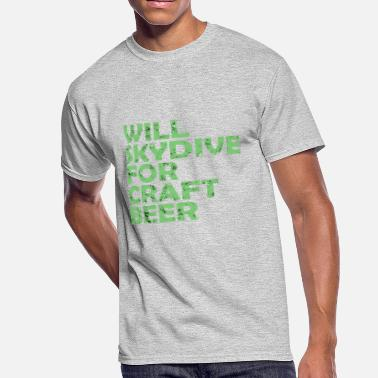 skydive for craft beer - Men's 50/50 T-Shirt
