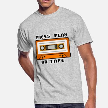 Press Geek Press Play On Tape - Men's 50/50 T-Shirt