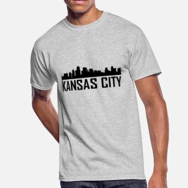 Kansas City Kansas City Kansas City Skyline - Men's 50/50 T-Shirt
