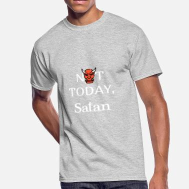 Not Today Devil NOT TODAY - Men's 50/50 T-Shirt