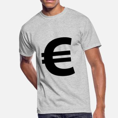 Euro Pop Euro Sign - Men's 50/50 T-Shirt