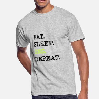 Gigolo Love eat sleep ons one night stands repeat sex gigolo - Men's 50/50 T-Shirt