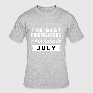 Best Friends Birthday July The best Firefighters are born in July - Men's 50/50 T-Shirt