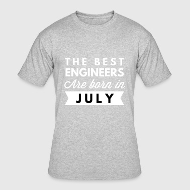 Engineering Born The best Engineers are born in July - Men's 50/50 T-Shirt