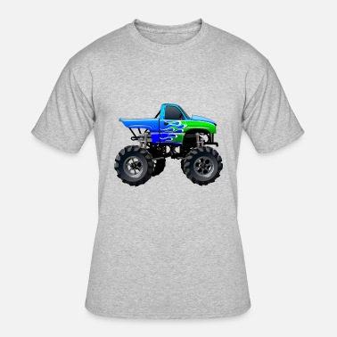 Art Pictures Cars Cool art Jeep SUV Monster Truck car vector cartoon - Men's 50/50 T-Shirt