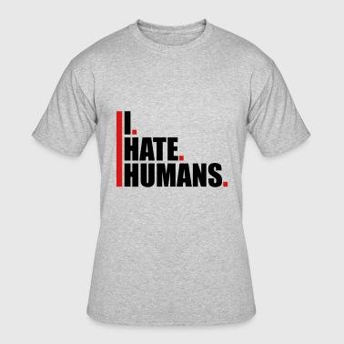 Fuck Humanity bars cool logo humans text sticker fuck you fuck o - Men's 50/50 T-Shirt